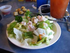 Side shrimp salad